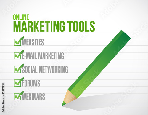 online marketing tools check mark illustration