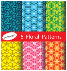 floral net pattern collection for making seamless wallpapers