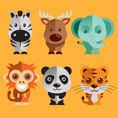 Funny Animals vector illustration