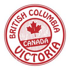 Canada, British Columbia stamp, vector