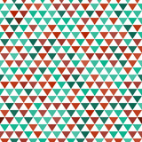 Colored and white triangles geometric seamless pattern, vector