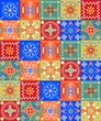 cheerful seamless pattern - holiday