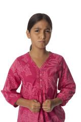 Young angry teenage girl