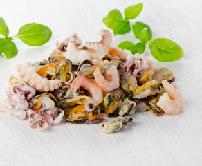 Raw Mixed seafood