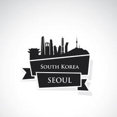 Seoul ribbon banner
