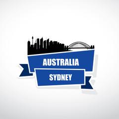 Sydney ribbon banner
