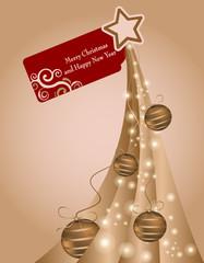 Abete con augurio di Natale