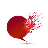 exploding speech bubble