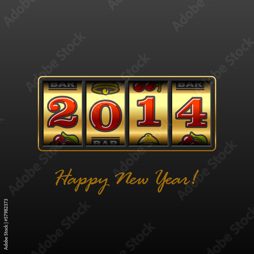 Happy New Year 2014 card