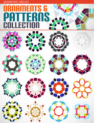 Geometric round shapes set for backgrounds