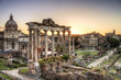 Roman ruins in Rome, the Imperial forum.