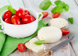 mozzarella with cherry tomatoes