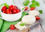 mozzarella with cherry tomatoes