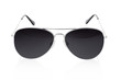 Aviator sunglasses on white, clipping path included