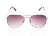 Aviator sunglasses on white, clipping path