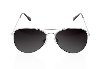 Sunglasses on white, clipping path