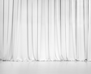 white curtain or drapes background