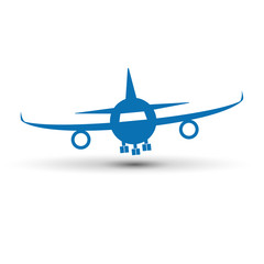 Vector logo airplane