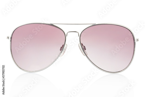 Aviator sunglasses isolated, clipping path included