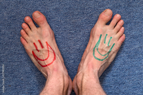 feet smiley