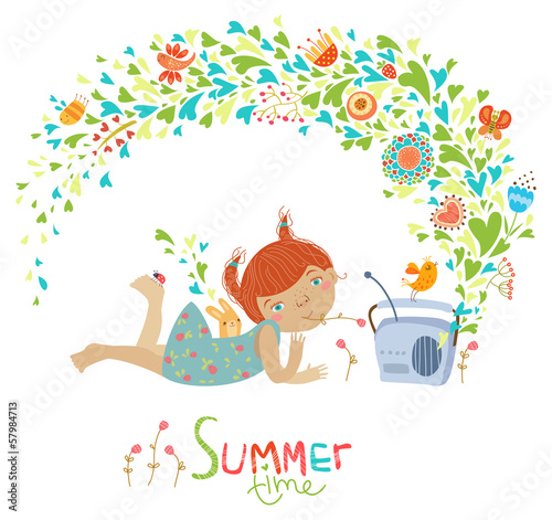 Cute summer illustration