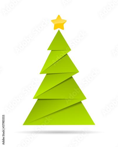 gr ner weihnachtsbaum aus papier von jisign lizenzfreier vektor 57985553 auf. Black Bedroom Furniture Sets. Home Design Ideas