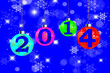 New Year 2014 Blue Background