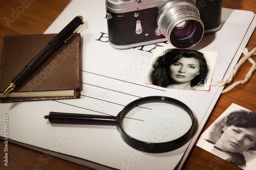 Leinwandbild Motiv Set detective