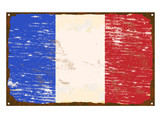 French Flag Enamel Sign