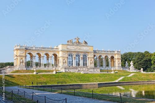 View on Gloriette  in Schonbrunn Palace, Vienna, Austria