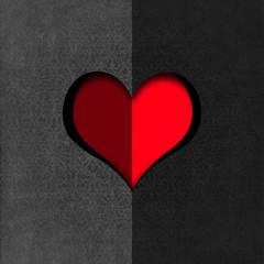 Heart Shape cut on Gray Velvet