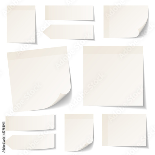 Beige Stick Notes Collection