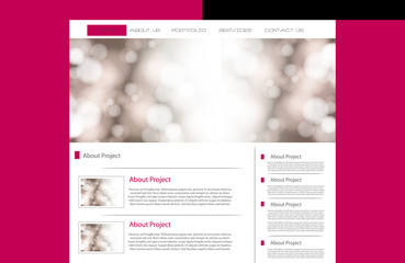 business website template, easy all editable