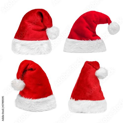 Leinwanddruck Bild Christmas Hats Set