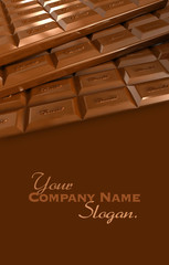 Chocolate tablets background
