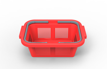 3d illustration of shopping basket isolated on white background