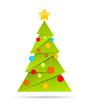 Grüner Weihnachtsbaum mit Kugeln