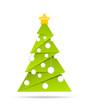 Weihnachtsbaum mit Kugeln