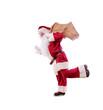 weihnachtsmann beim laufen