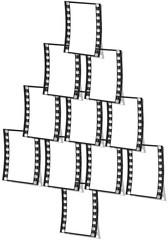 albero di Natale con pellicola fotografica