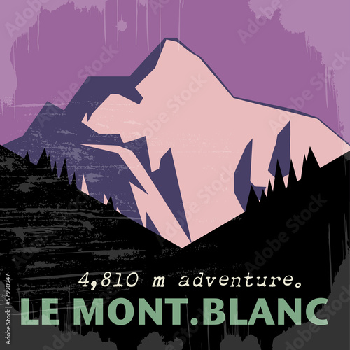 Abstract background with the Mont Blanc, vector