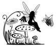 Fee, Elfe, Pilz, Wiese, Fliegenpilz