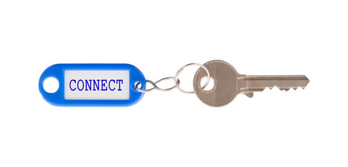 Key with blank label isolated