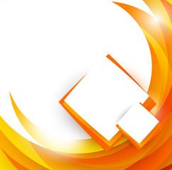 Abstract orange brochure