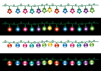 vector  christmas electric light lamps