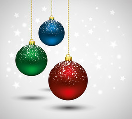 vector new year background with christmas balls