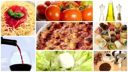 italian food, collage