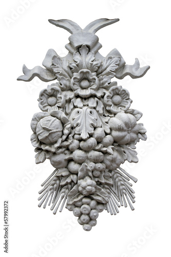 architectural ornament with fruit