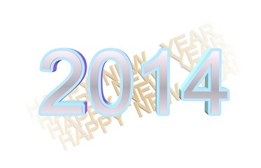 new years design with fading background in 3d