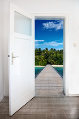 Beach behind Door